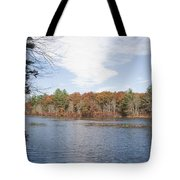 Autumn On Mill Pond Tote Bag