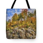 Autumn On The Rocks Tote Bag