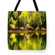 Autumn Reflection In Georgetown Lake Colorado Tote Bag