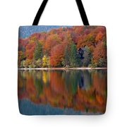 Autumn Reflections On Lake Bohinj In Slovenia Tote Bag