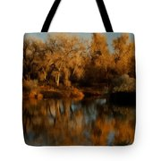 Autumn Reflections Painterly Tote Bag