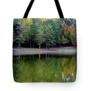 Autumn Reflections Upon Dark Waters Tote Bag