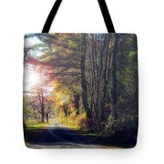 Autumn Road Tote Bag