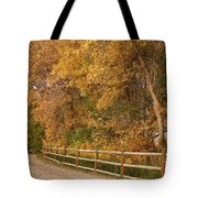 Autumn  Road To The Ranch Tote Bag