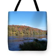 Autumn Scenery Along The Grand River Tote Bag