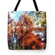 Autumn Street Perspective Tote Bag