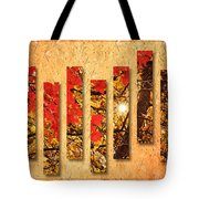 Autumn Sunrise Painterly Abstract Tote Bag