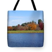 Autumn Trees By The Lake Tote Bag