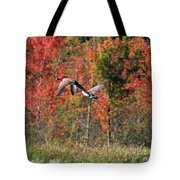 Autumn Vermont Geese And Color Tote Bag