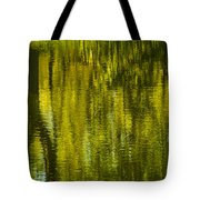 Autumn Water Reflection Abstract IIi Tote Bag