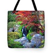 Autumn Waterfall - Digital Art Tote Bag