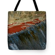 Autumn Waterfall Reflections Tote Bag