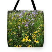 Autumn Wildflowers - D007762 Tote Bag by Daniel Dempster