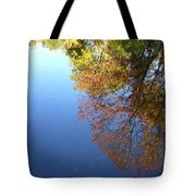 Autumn's Watery Reflection Tote Bag
