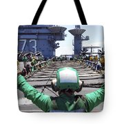 Aviation Boatswain's Mate Signals Tote Bag