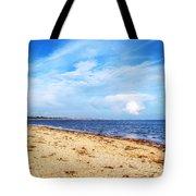 Avon Beach At Mudeford In Dorset Tote Bag