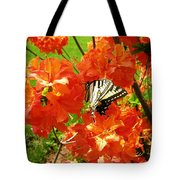 Azalea And Butterfly 1 Tote Bag