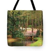 Azaleas And Footbridge Tote Bag