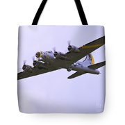 B-17g Liberty Belle Approach 8x10 Special Tote Bag by Tim Mulina