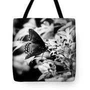 B N W Butterfly Tote Bag