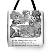 Baa, Baa, Black Sheep, 1833 Tote Bag by Granger