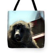 Baboon Face Tote Bag