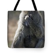 Baboon With Headache Tote Bag