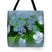 Baby Blue Lace Cap Hydrangea Tote Bag