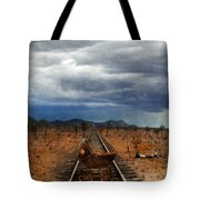Baby Buggy On Railroad Tracks Tote Bag
