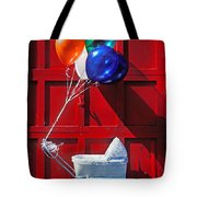 Baby Buggy With Balloons  Tote Bag