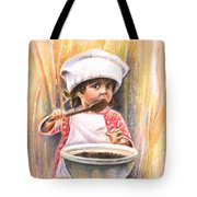 Baby Cook With Chocolade Cream Tote Bag