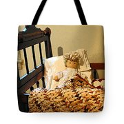 Baby Doll In Crib Tote Bag