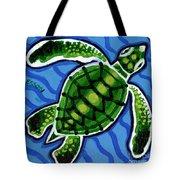 Baby Green Sea Turtle Tote Bag