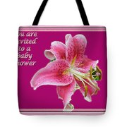 Baby Shower Invitation - Pink Stargazer Lily Tote Bag