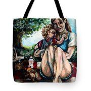 Baby's First Picnic Tote Bag