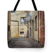 Back Alley Cityscape Tote Bag