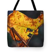Back-lit Golden Leaf Tote Bag