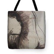 Back Torso - Sketch Of A Female Nude Tote Bag