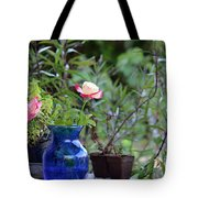 Back Yard Roses Tote Bag