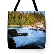 Backguard Falls On Fraser River In British Columbia Tote Bag by Mark Duffy