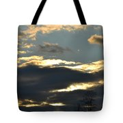 Backlit Clouds Tote Bag