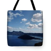 Backside Of Crater Lake Tote Bag