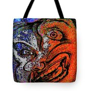 Backward Face Tote Bag