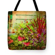Backyard Flower Garden Tote Bag