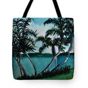 Backyard Palms Tote Bag