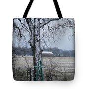 Backyard Panoramic Tote Bag