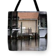 Backyard Waterway Tote Bag