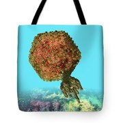 Bacteriophage P22 Tote Bag by Russell Kightley