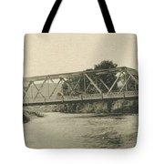 Bailey Bridge Over Willowemoc River Tote Bag