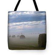 Bails In Fog Tote Bag